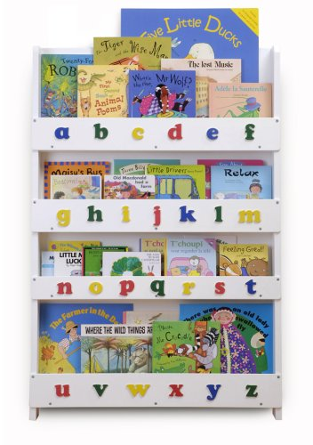 The Tidy Books Children's Bookcase - Perfect book display and storage for your children (White, Lowercase)