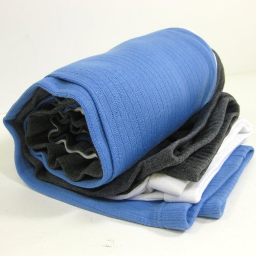 FTD - Men's Thermal Underwear Long Johns Set (Pack of 3) - three colours Blue, Grey, White