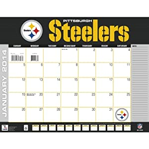 Turner - Perfect Timing 2014 Pittsburgh Steelers Desk Calendar, 22 x 17 Inches (8061362)