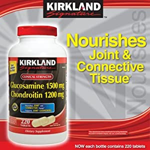 Kirkland Signature Extra Strength Glucosamine HCI 1500 mg Chondroitin Sulfate 1200 mg - 190 Tablets