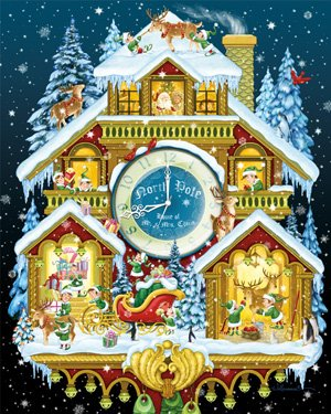 Christmas Cuckoo Clock Jigsaw Puzzle 1000 Piece