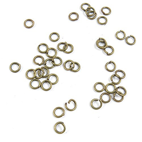 36870 Pieces Antique Bronze Tone Jewelry Making Charms Findings Wholesale Supplier Bulk Lots Pendants GT00564 Jump Rings 4mm