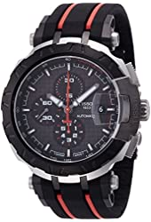 Tissot T-Race MotoGP 2015 Automatic Anthracite Dial Black and Red Rubber Band Mens Sports Watch T0924272706100