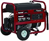 Powermate PM0435005 6,250 Watt 287cc 10 HP Subaru EX30 Gas Powered Portable Generator With Straight Handle