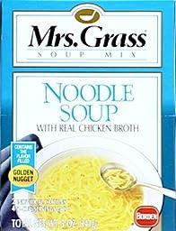 MRS GRASS MIX SOUP CHICKEN NOODLE, 4.2 OZ, 2 PACK