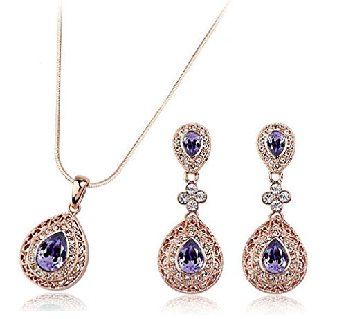 eden-elves-retro-teardrop-jewelry-set-golden-plated-deep-purple-drop-earring-necklace