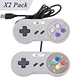 New SNES Super Nintendo Controller , Retro USB Super Classic Controller for PC/Mac (Pack of 2)