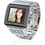 Efine 1.5 Inch WIFI JAVA Bluetooth Silver Smart Watch Mobile Phone 1.3MP Camera