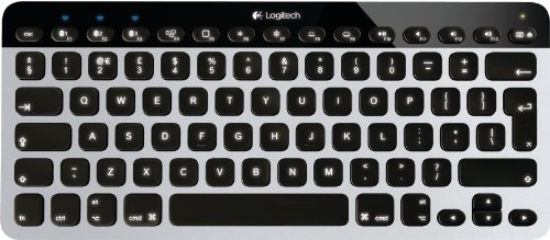 Logitech Easy-Switch Bluetooth beleuchtete Tastatur für Apple iPhone/Mac/iPad