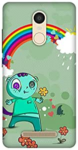 The Racoon Lean printed designer hard back mobile phone case cover for Xiaomi Redmi Note 3. (Happy Mons)