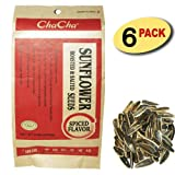 Chacha Sunflower Roasted and Salted Seeds (Chinese Herbal Spiced Flavor) 250g X 6 Bags