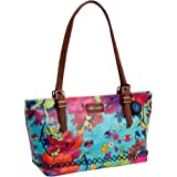 The SAK Sakroots Small Satchel,Aqua Flower Power,One Size