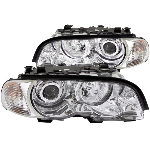 Anzo USA 121268 BMW Projector with Halo Chrome Clear with Amber Headlight Assembly - (Sold in Pairs)