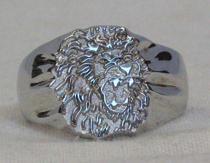 SE Louisiana Lions Sterling Silver Lion Head Ring Size 10 1/2