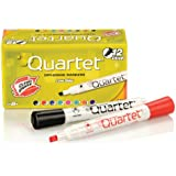 Quartet Low Odor Chisel Tip Dry-Erase Markers, Assorted Colors, 12 Markers per Pack (51-002693QA)