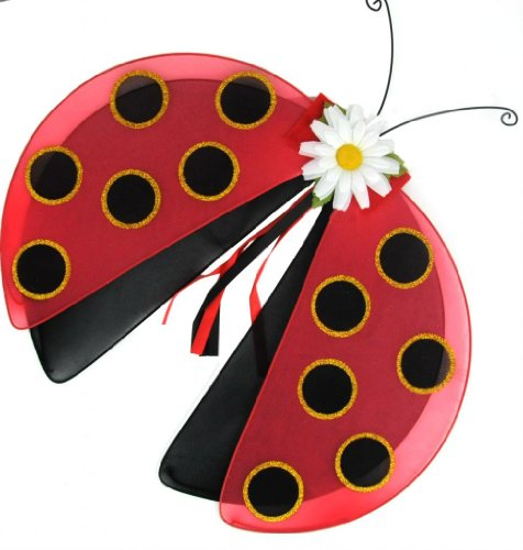 Beverly's Girl's Lady Bug Wings Red/Black