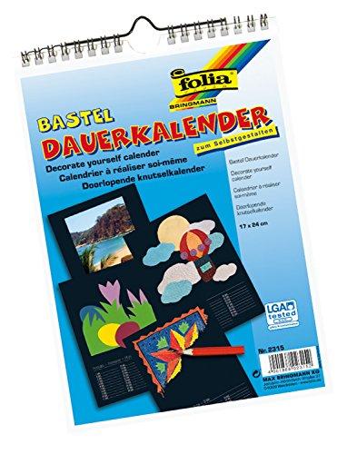 Bringmann 2315 - Bastelkalender Folia A5 schwarz zum selbstgestalten