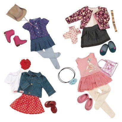 Our Generation Doll Outfit Set Collection : Ballerina Outfit, A Western Outfit With Tights And 2 Casual Skirt Outfi For 18 Inch Dolls Like American Girl Hot New Design