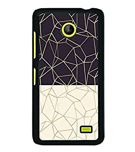 Black and White Zig Zag Pattern 2D Hard Polycarbonate Designer Back Case Cover for Nokia X :: Nokia Normandy :: Nokia A110 :: Nokia X Dual SIM RM-980 with dual-SIM card slots