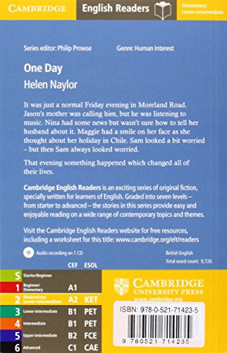 CER2: One Day Level 2 Elementary/Lower-intermediate Book with Audio CD Pack (Cambridge English Readers)