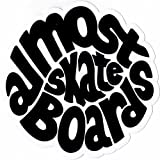 Almost 'Hippy' Sticker Black