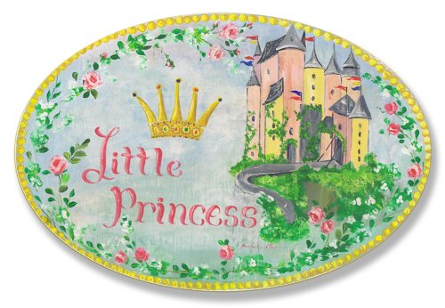 The Kids Room by Stupell Little Princess Floral Border with Castle Oval Wall Plaque
