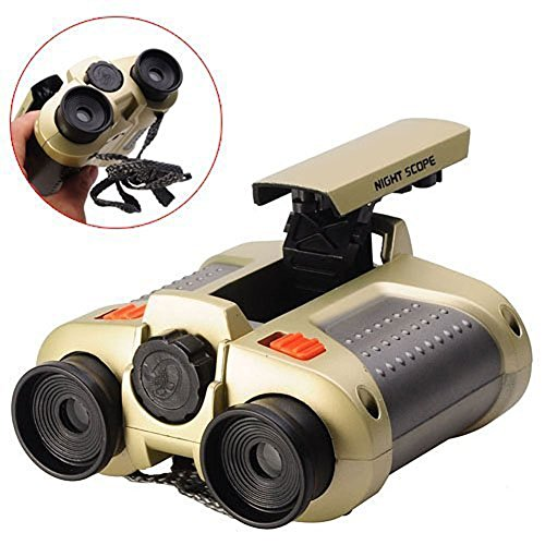 BIAL Night Scope Binoculars 4x30 Telescope with Pop-up Spotlight and Night-beam Vision Fun Cool Toy Gift for Kids Boys Girls (Popular Electronics compare prices)