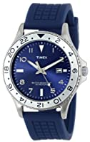 Timex Men's T2P032KW Ameritus Sport Blue Sunray Dial, Blue Silicone Strap Watch by Timex