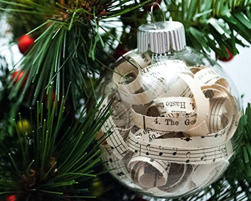 Vintage Hymn Christmas Ornament