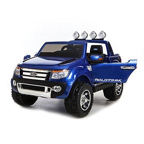 乗用ラジコンフォード レンジャー(FORD RANGER) 超大型!二人乗り可能! Wモーター&大型バッテリー フォード正規ライセンス品のハイクオリティ ペダルとプロポで操作可能な電動[カラー:ブルー]