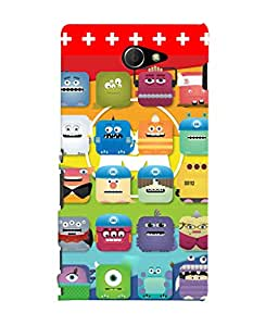 Fuson 3D Printed Cartoon Designer back case cover for Sony Xperia M2 - D4474