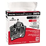 Brawny Industrial 25070CT Heavy Duty Shop Towels, 9 1/8 x 16 1/2, 100/Box, 5/Carton