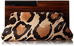 Trina Turk Sunset Soiree Clutch, Natural Leopard, One Size