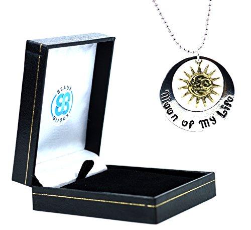 Elegante confezione di velluto, Khal Khaleesi Moon Of My Life My Sun And Stars-Collana con ciondolo a forma di Game Of Thrones, Metallo, colore: nero