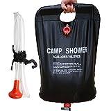 Ailiebhaus Portable 20L PVC Outdoor Camping Solarenergie Shower Bag Solardusche Wasser Beutel