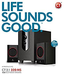Circle CT 2.1 320MS 18 Watts High Quality Multimedia Speaker with Sturdy Wooden Bass-Reflex Subwoofer / ESPECIALLY DESIGNED FOR DIGITAL AUDIO SOURCES (Reduces high frequency digital noise, delivers more natural sound) / Specially designed drivers with well built quality ensuring a great audio experience
