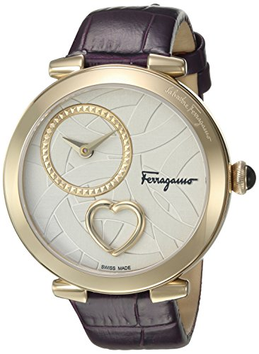 Salvatore-Ferragamo-Womens-CUORE-Swiss-Quartz-Stainless-Steel-Casual-Watch-ColorPurple-Model-FE2090016
