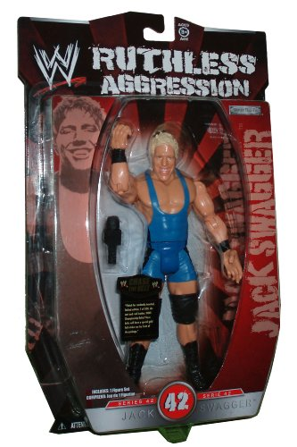 Buy Low Price Jakks Pacific World Wrestling Entertainment WWE Series 42 Ruthless Aggression 7 Inch Tall Wrestler Action Figure – JACK SWAGGER with Microphone (B00375EYOS)