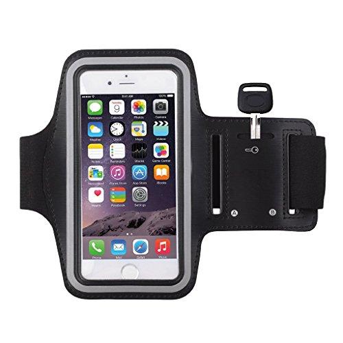 """Melotfast Iphone 6/6s Armband Rennen Laufen Joggen Training Sport Armband Tasche Huelle Case Schutzhuelle Armhalter fuer Apple iPhone 6/6s (4,7""""),5/5S/5C Einstellbare Groesse(Schwarz)"""