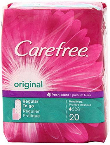 Carefree Original, Regular, Scented, 20 Count (Pack of 8)