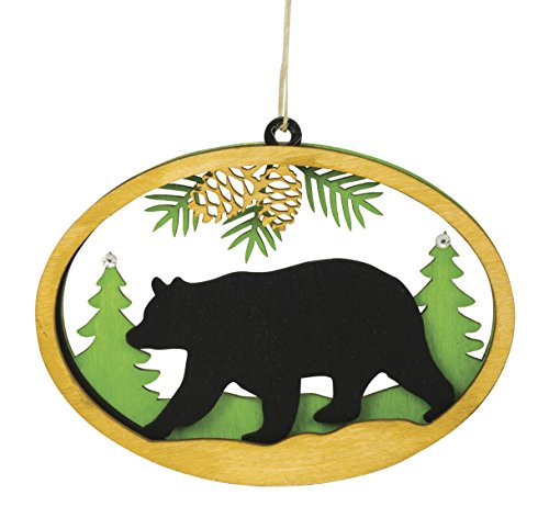 Wooden Bear Laser Cut 3D Christmas Tree Holiday Ornament Decoration - Cape Shore