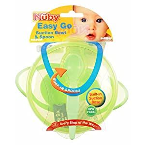 Nuby Easy Go Suction Bowl with Spoon - fuschia, one size