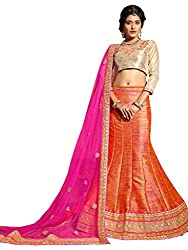 Silvermoon women's Banglore Silk Embroidered heavy lehenga choli-sm_MIRNA93_Orange_free size