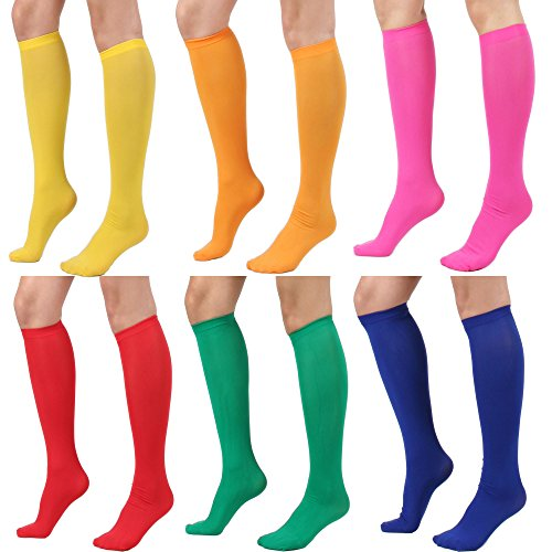 Women's Fashion Semi Opaque Knee High Trouser Sock 3pair / 6pair