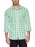 Urban Classics Camisa Hombre (Verde)