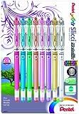 Pentel Arts Slicci Metallic 0.8 mm Needle Tip Gel Pen, Assorted Colors, 8 Pack (BG208BP8M)
