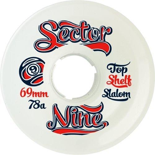 sector-9-9ball-topshelf-slalom-69mm-white-78a-skateboard-wheels-set-of-4-by-sector-9