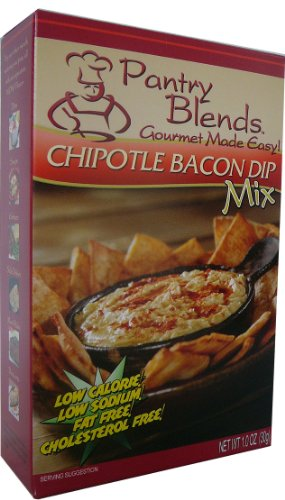 Pantry Blends Chipotle Bacon Dip Mix, 1.0-Ounce Boxes (Pack of 12)