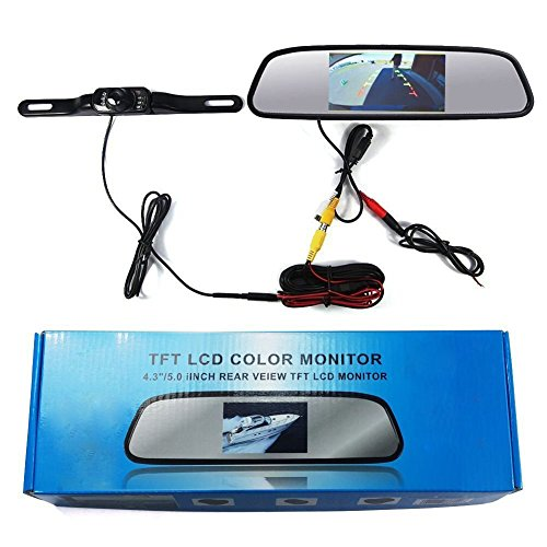 ABUSA Car Vehicles Parking System In-Mirror Rear View Monitor Video Camera (Car Rear Mirror With Camera compare prices)
