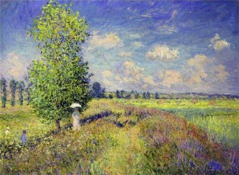 The Perfect Effect Canvas Of Oil Painting 'The Summer, Poppy Field, 1875 By Claude Monet' ,size: 20x27 Inch / 51x69 Cm ,this High Resolution Art Decorative Canvas Prints Is Fit For Home Theater Gallery Art And Home Artwork And Gifts